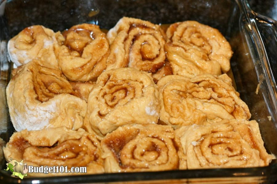 raw caramelized pumpkin sticky buns