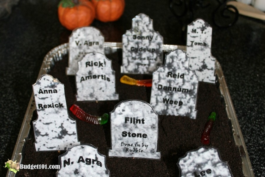 b101 haunted graveyard dirt pudding dessert