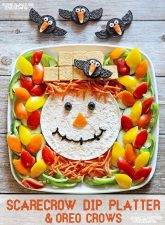 Scarecrow Dip Platter Idea