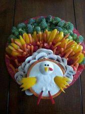 Turkey Shape Veggie Platter Idea