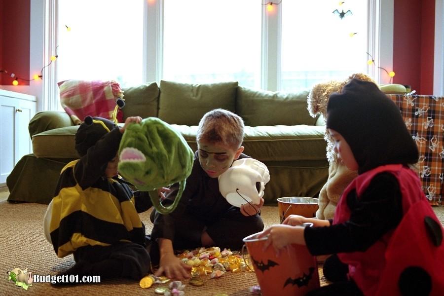 b101 sorting halloween candy loot