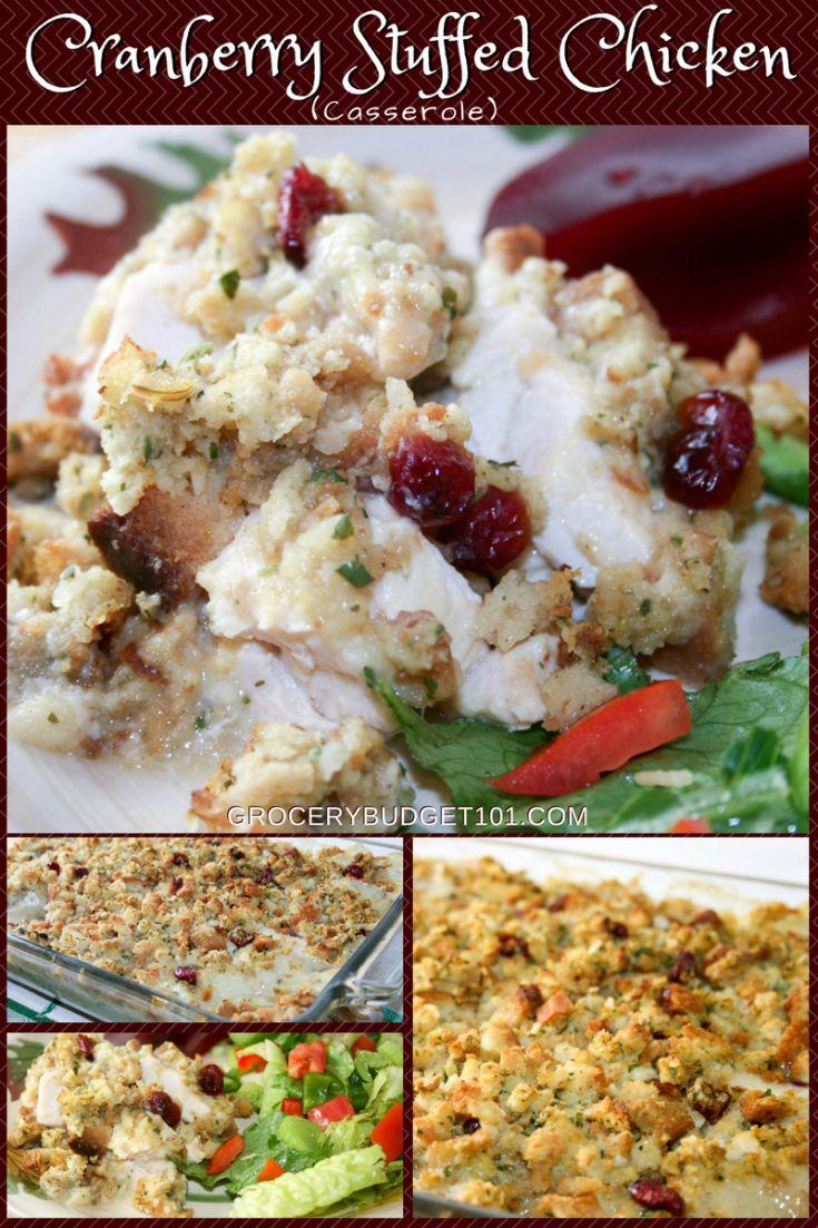 budget101 $75 weekly menu plan- cranberry stuffed chicken