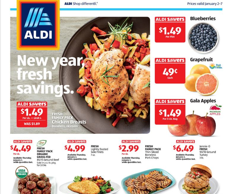 $75 Weekly Menu Plan using Aldi Ads