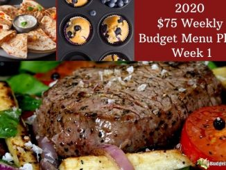 Budget101.com 20202 $75 Weekly Menu Plan week 1