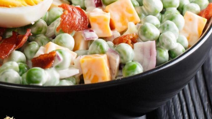 b101 creamy bacon pea salad