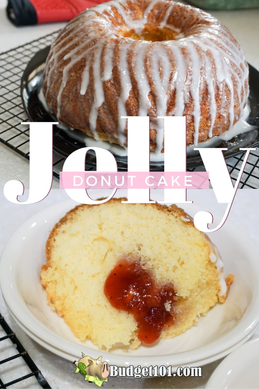Jelly Donut Bundt Cake is a perfect brunch treat! #JellyDonut #Brunch #Breakfast #Cake #Budget101
