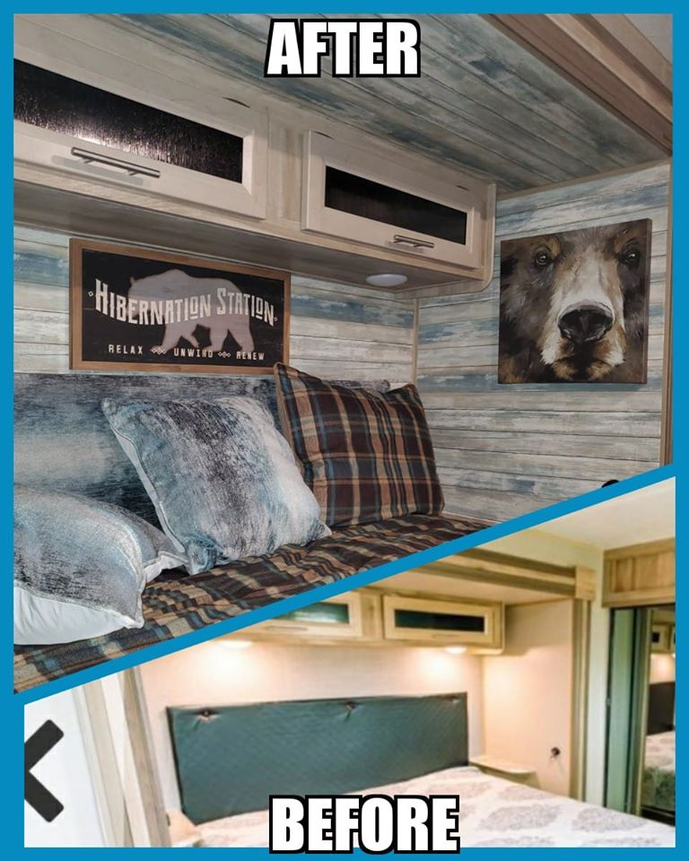 Budget101 RV Bedroom Makeover Remodel Project for Pennies #Budget101 #RV
