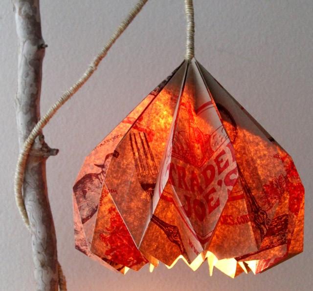 Paper Bag Pendant Lampshade