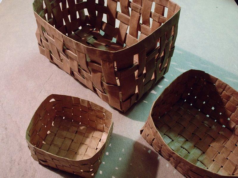 Weave a Paper Bag Basket