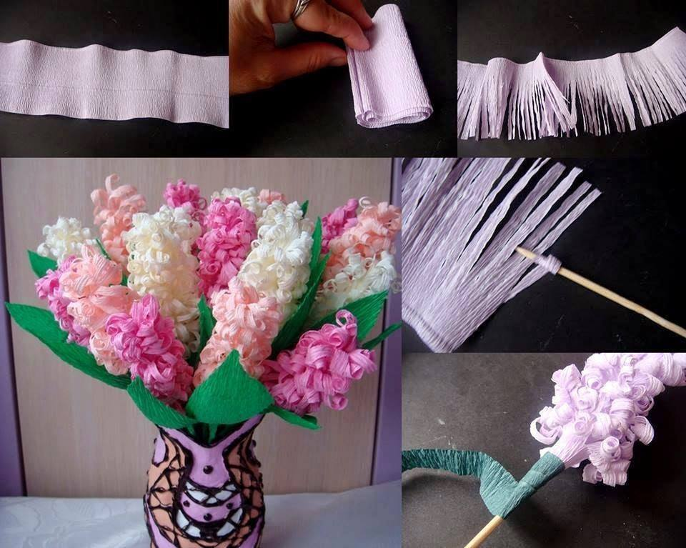 Hyacinth Paper Flower Craft