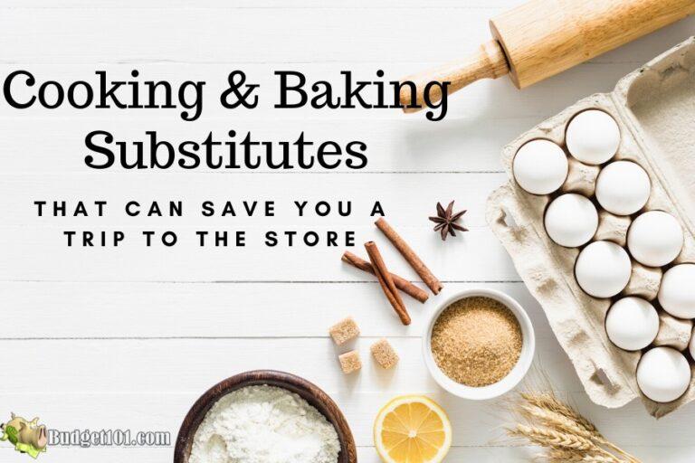 b101 cooking baking substitutes