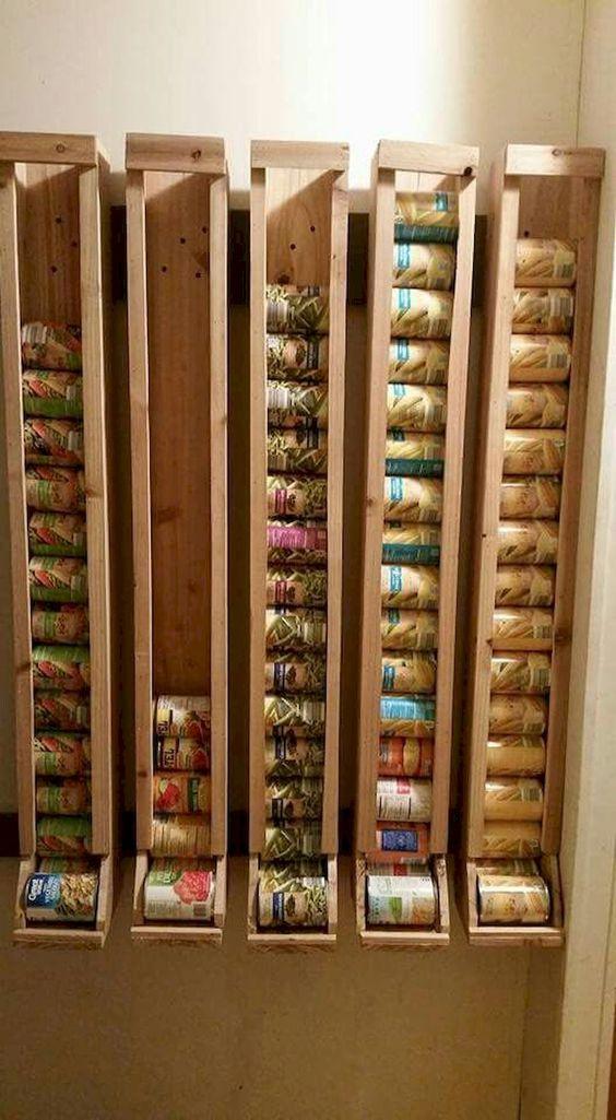 Pantry Can Storage Rack Idea