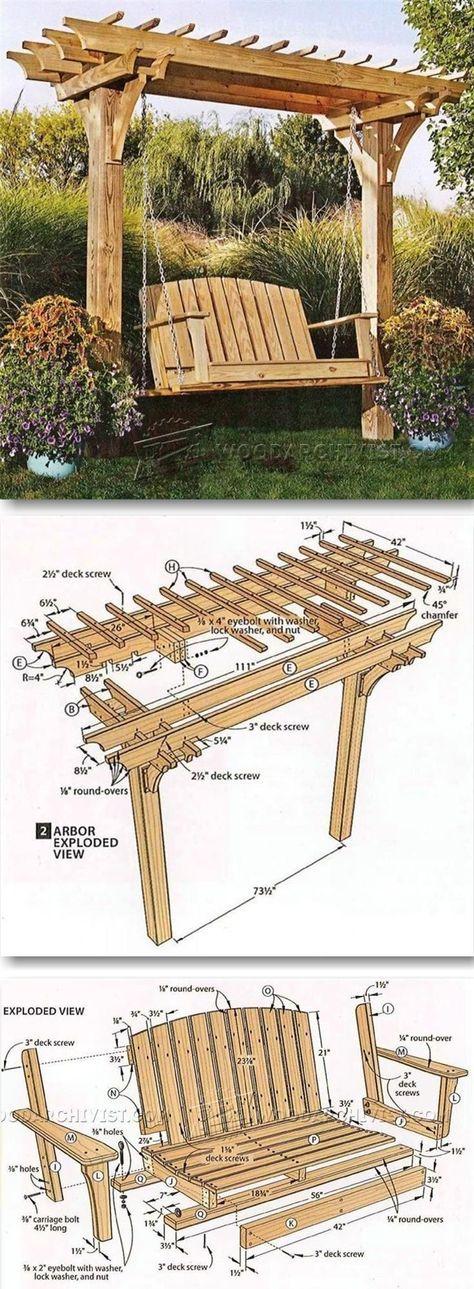 DIY Pergola Swing Set
