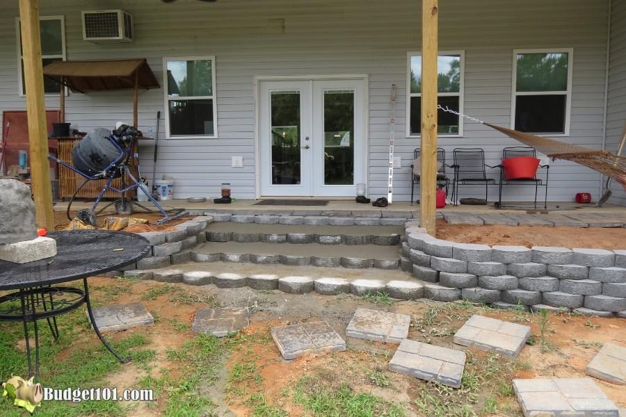 Stamped Concrete Patio Step 11 - By Budget101.com