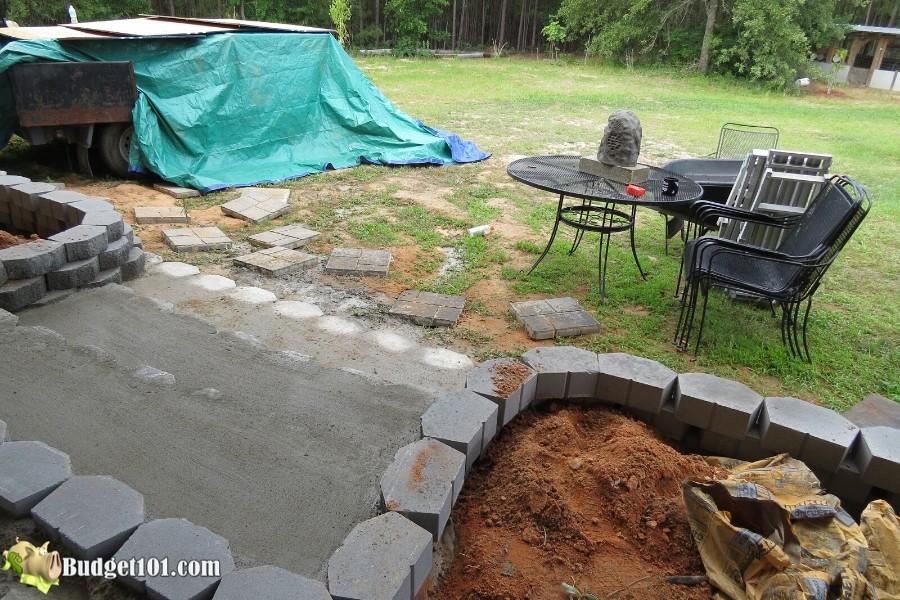 Stamped Concrete Patio Step 12 - By Budget101.com