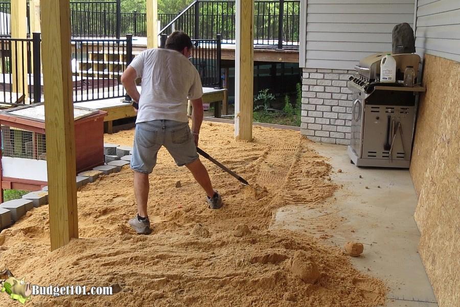 Stamped Concrete Patio Step 13 - By Budget101.com