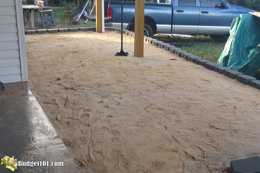 Stamped Concrete Patio Step 16 - By Budget101.com