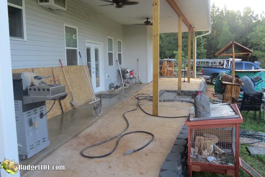 Stamped Concrete Patio Step 17 - By Budget101.com