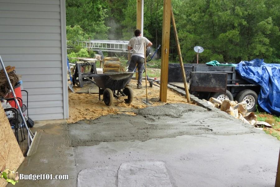 Stamped Concrete Patio Step 18 - By Budget101.com