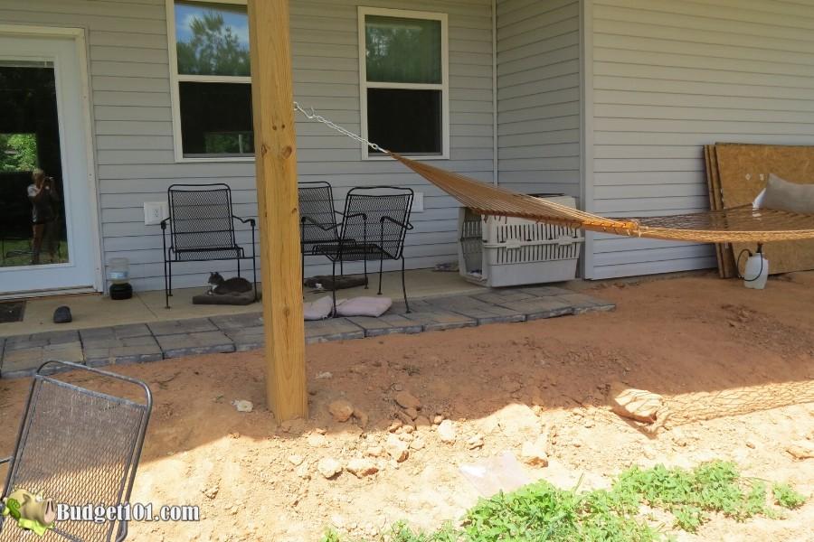 Stamped Concrete Patio Step 2 - By Budget101.com