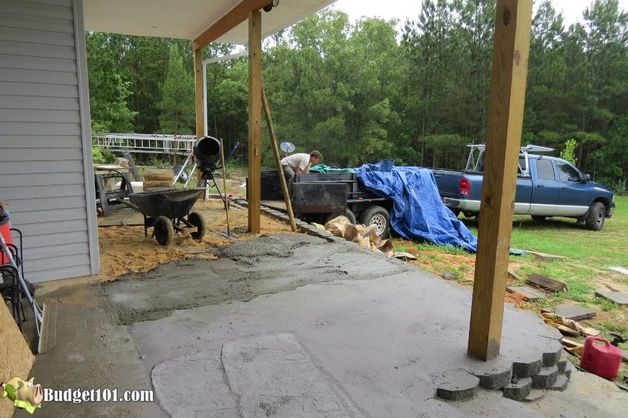 Stamped Concrete Patio Step 20 - By Budget101.com