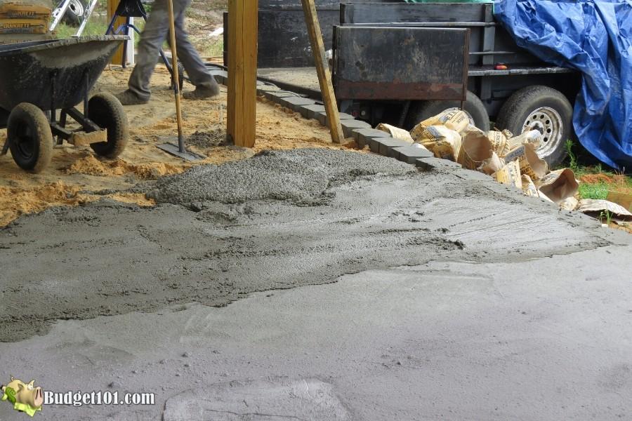 Stamped Concrete Patio Step 21 - By Budget101.com