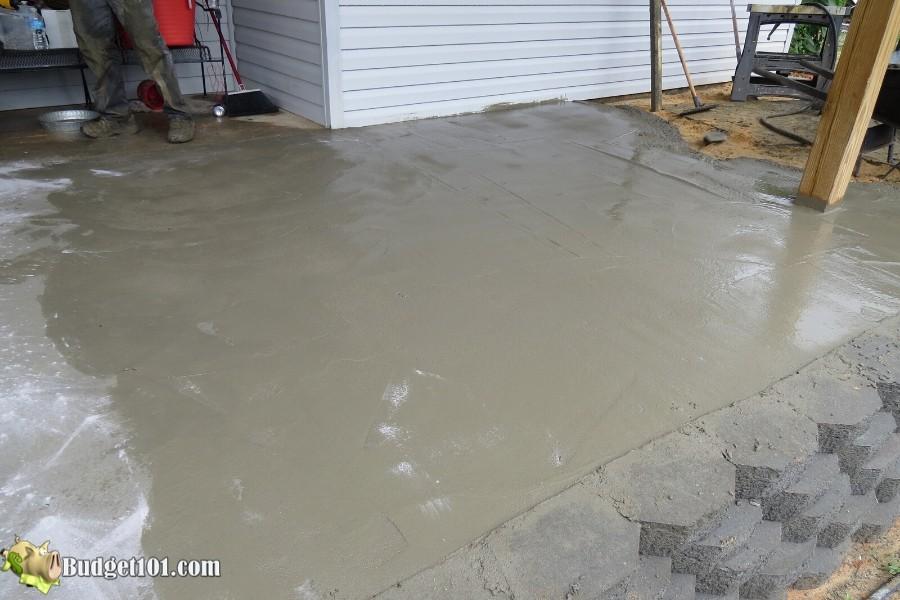 Stamped Concrete Patio Step 22 - By Budget101.com