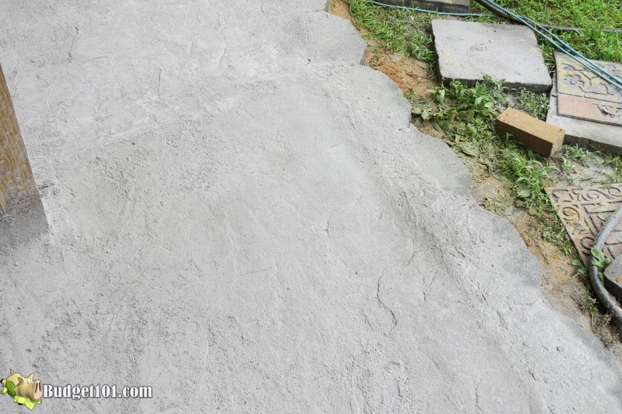 Stamped Concrete Patio Step 24 - By Budget101.com