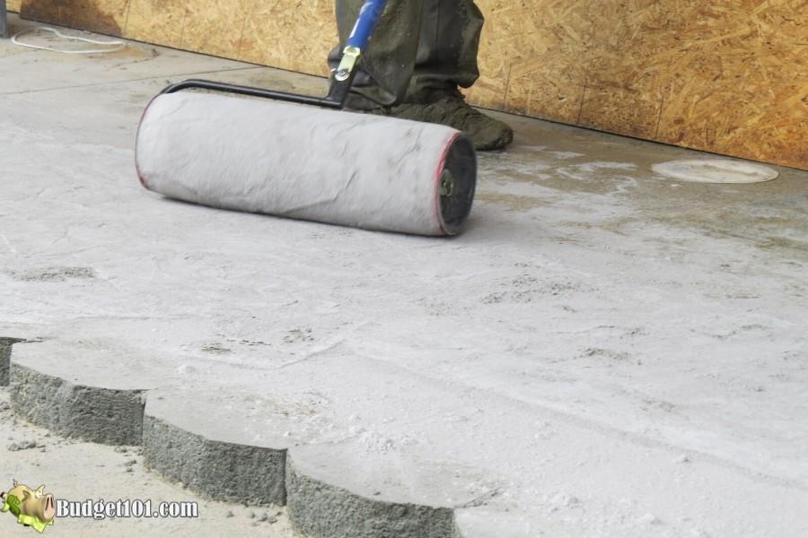 Stamped Concrete Patio Step 26 - By Budget101.com