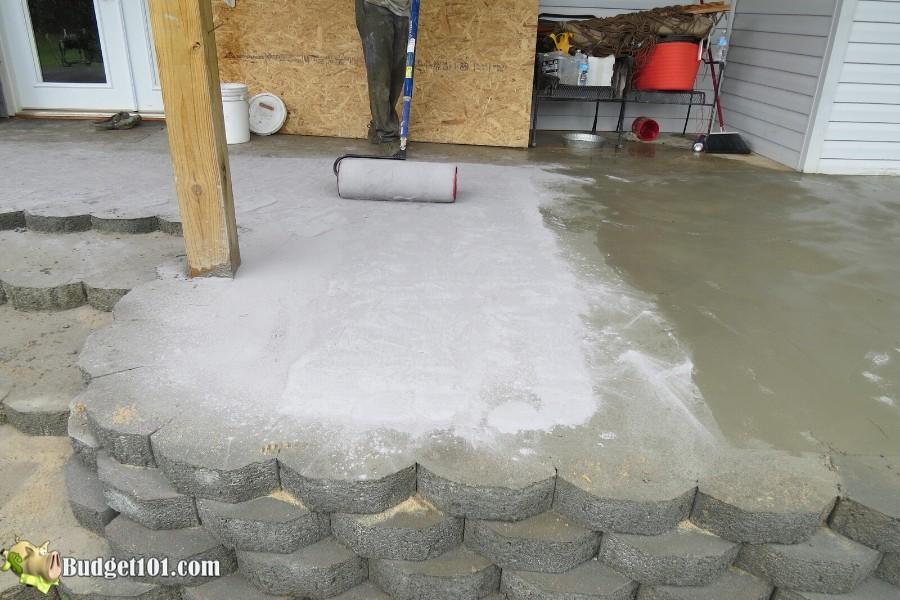 Stamped Concrete Patio Step 27 - By Budget101.com