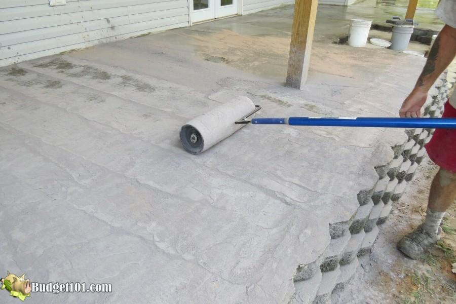 Stamped Concrete Patio Step 28 - By Budget101.com