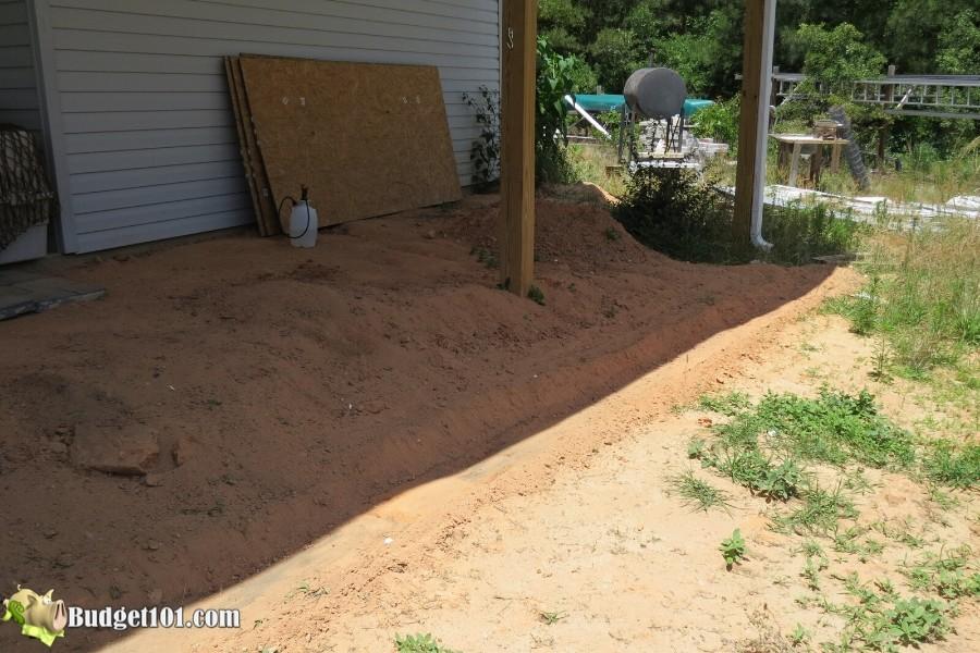 Stamped Concrete Patio Step 3 - By Budget101.com