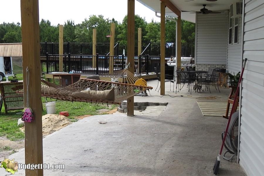 Stamped Concrete Patio Step 30 - By Budget101.com