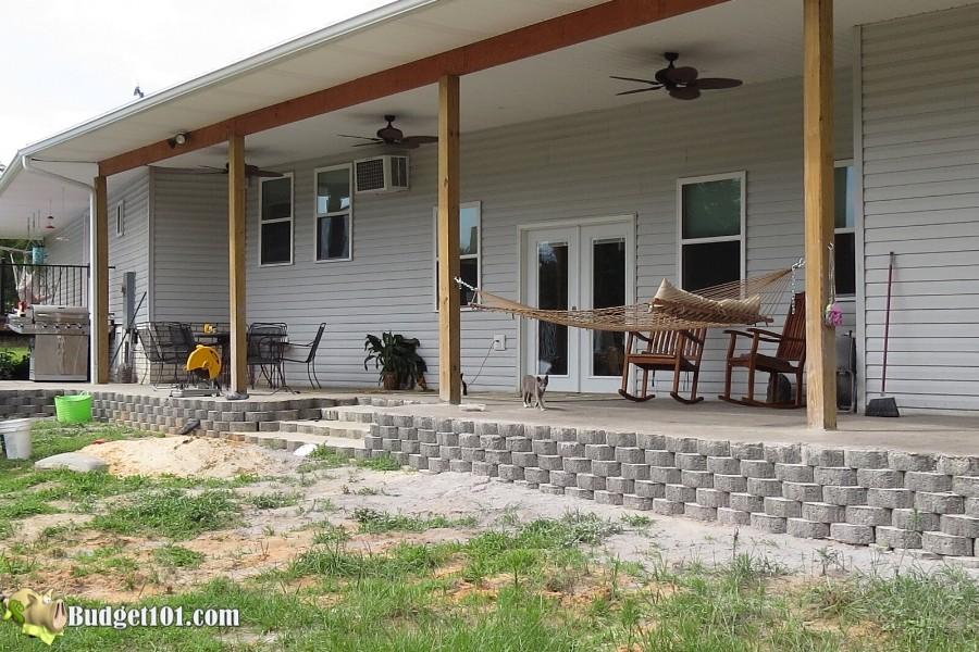 Stamped Concrete Patio Step 31 - By Budget101.com
