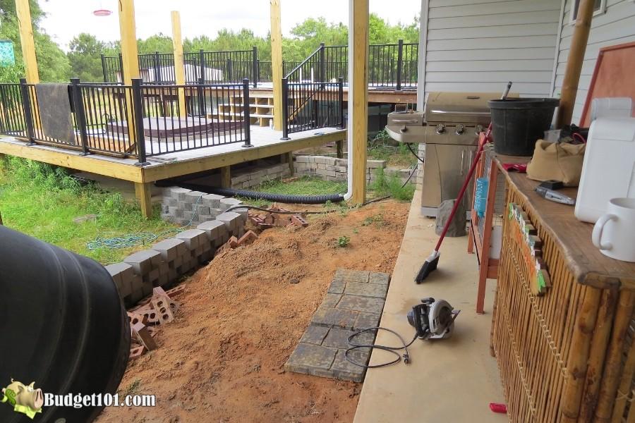 Stamped Concrete Patio Step 5 - By Budget101.com