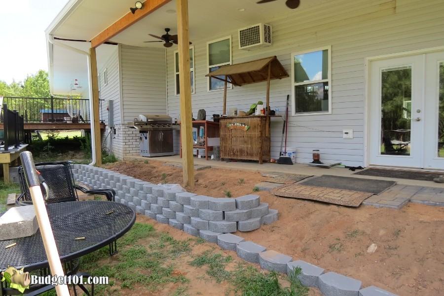 Stamped Concrete Patio Step 6 - By Budget101.com