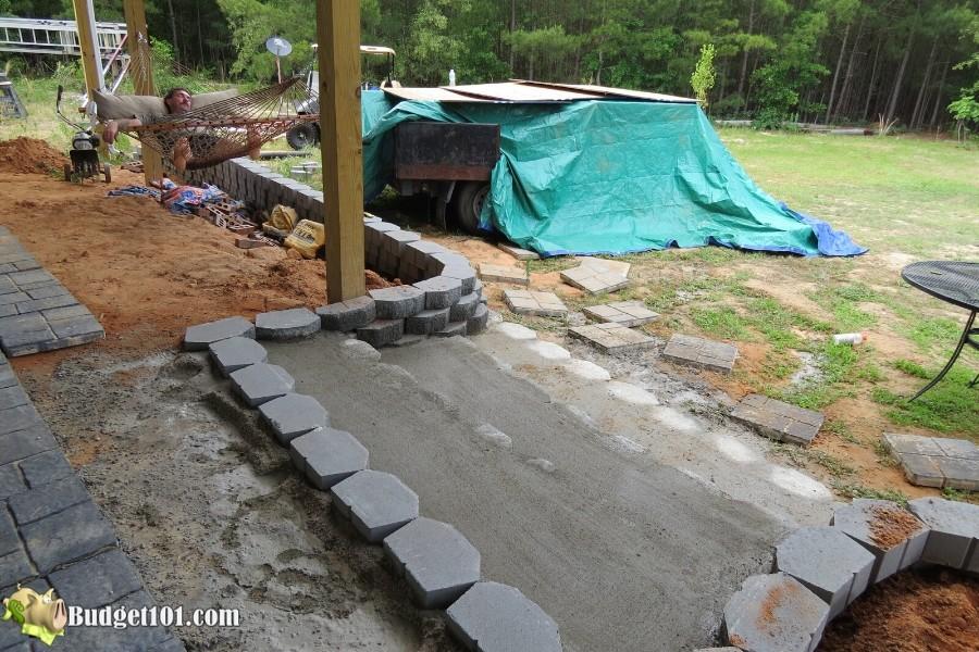 Stamped Concrete Patio Step 7 - By Budget101.com