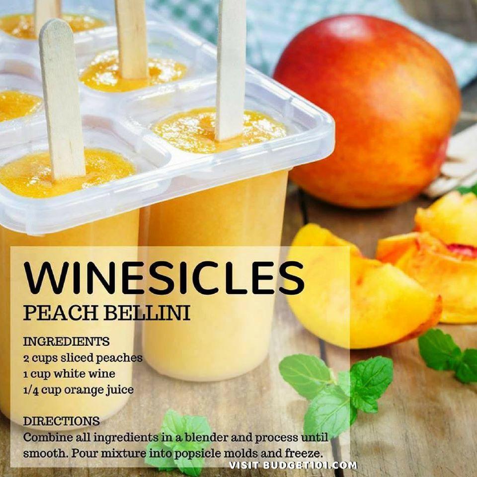 Peach Bellini Winesicles