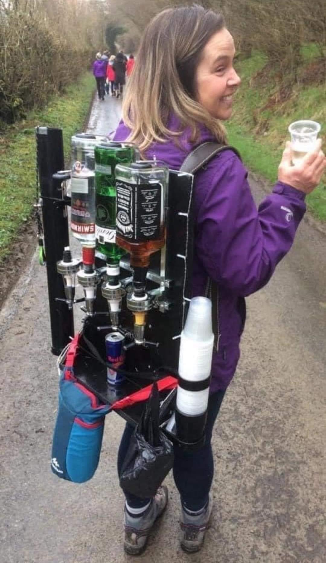 How to make a bar backpack