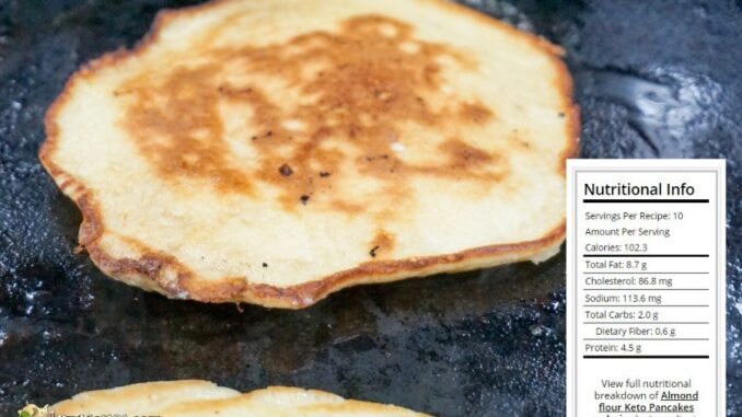 b101 keto pancakes nutrition data
