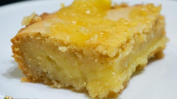 Keto Shortbread Lemon Bars