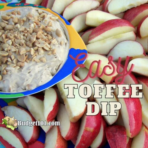 Easy Toffee Dip by Budget101.com