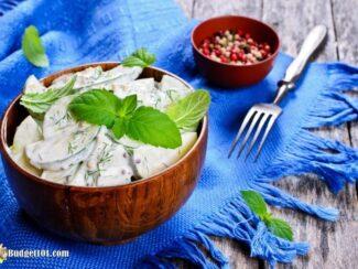 creamy cucumber dill salad recipe