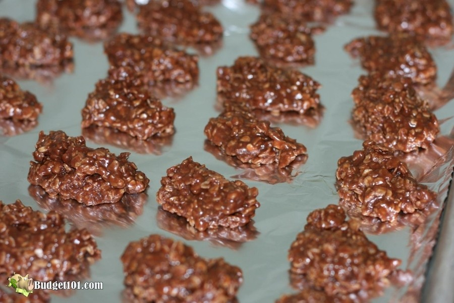 Chocolate No-Bake Peanut butter cookies