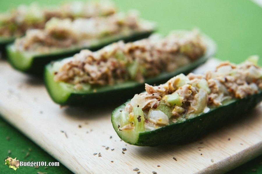 Tuna Cucumber Boats
