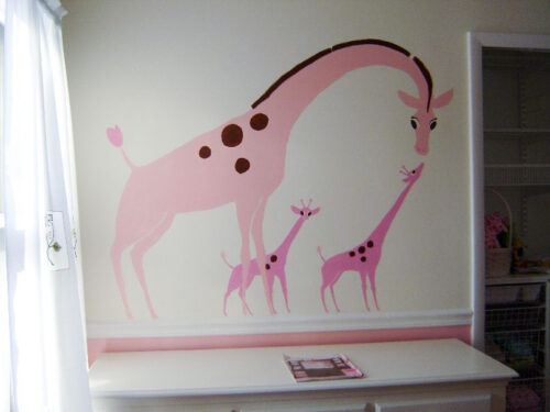 step 6 paint mural on wall