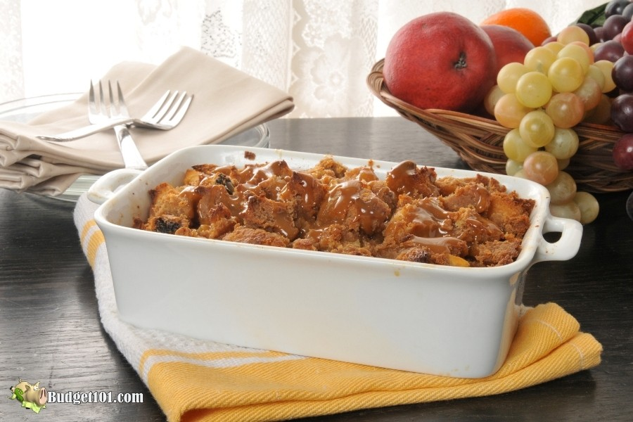 b101 apple bread pudding warm butterscotch sauce