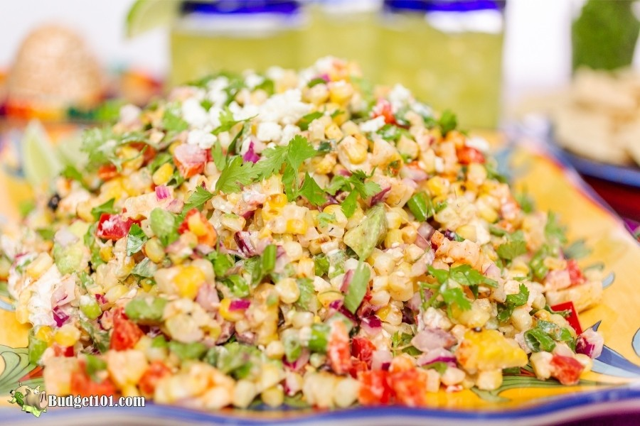 Mexican Street Corn Salad- by Budget101.com