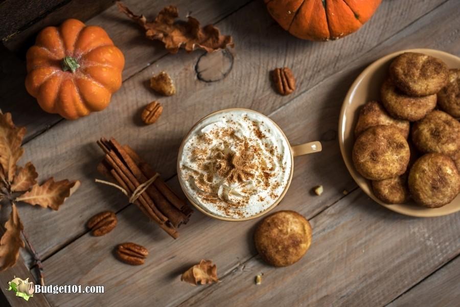 Pumpkin Spice Latte with Pumpkin Snickerdoodle Cookies