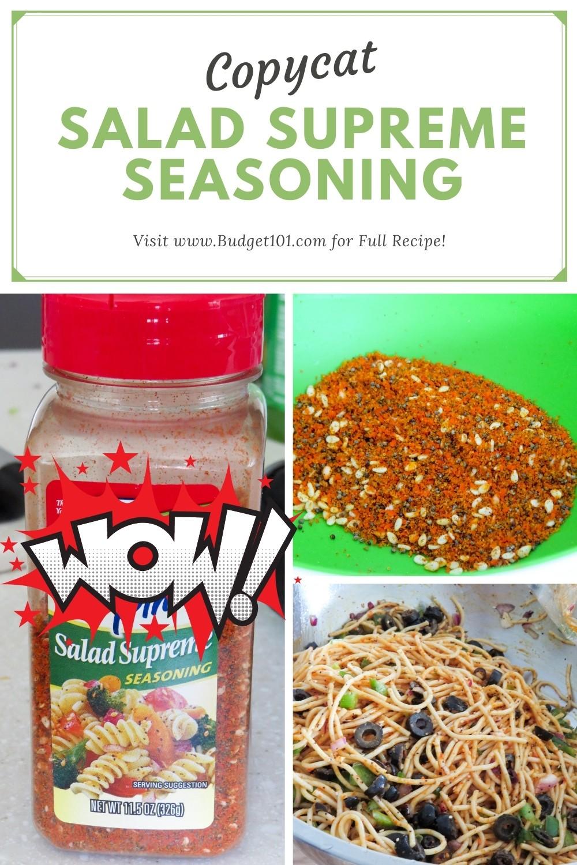 Homemade Salad Supreme Seasoning